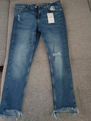 Zara Pantalon bleu foncé