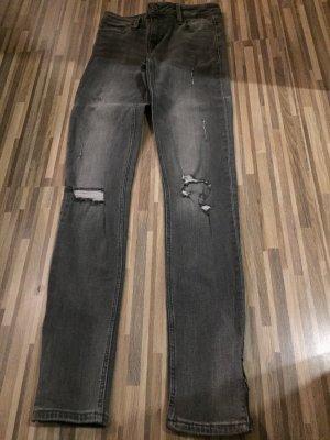 ZARA Jeans - grau - seitlicher Zipper
