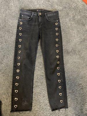 Zara Jeans vita bassa nero