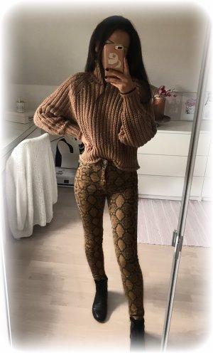 Zara Jeans High Rise, highrise, highwaist, skinny, Schlangen Print, Muster, 34