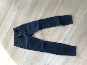 Zara Jeans High Rise Skinny dunkelblau