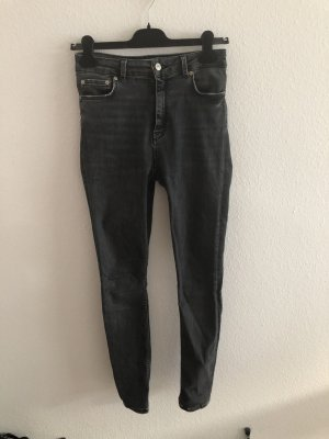 Zara High Waist Jeans grey