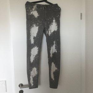 Zara Jeans High-Waist grau-weiß in 28 (Gr.38) *ungetragen*