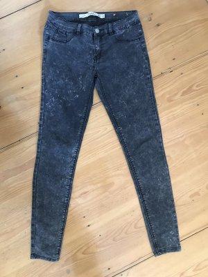 Zara Jeans/ Hose grau meliert 34