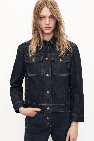 Zara Jeans taille haute bleu coton