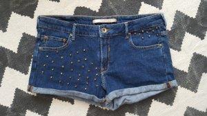 Zara Jeans-Hotpants 38 36 Denim Nieten studded