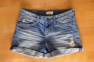 Zara Jeans Hotpants Shorts kurze Hose Ibiza Festival Sommer blau used Gr. 36