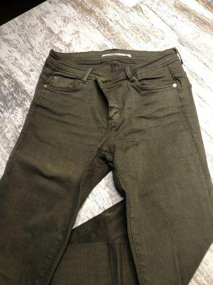Zara Drainpipe Trousers khaki