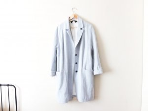 Zara Jeans Mantel Gr. L 38 40 hellblau leinen