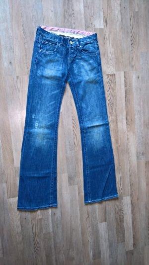 Zara Jeans bootcut bleu coton