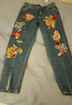Zara-Jeans mit Patches
