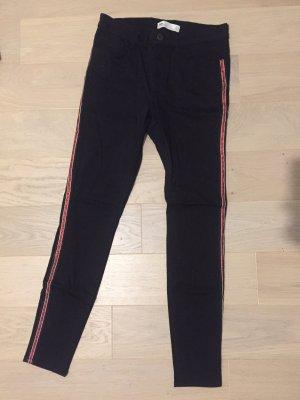 Zara Jeans skinny nero-rosso