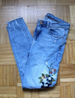 Zara Tube Jeans azure-green grey
