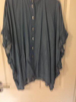 Zara Camisa vaquera azul celeste Algodón