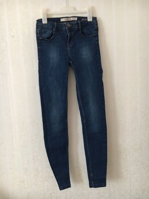 Zara High Waist Jeans blue-dark blue