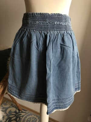 Zara Jeans Rock 38 M neu blau Minirock dehnbar