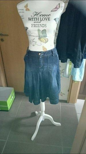 Zara Jeans Rock Blau