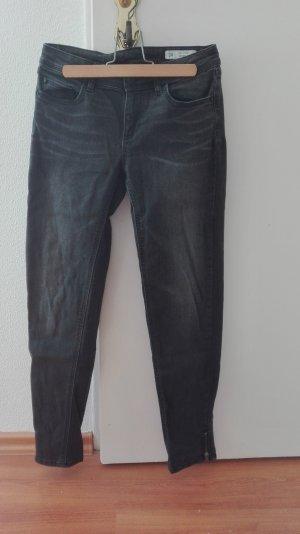 Zara Jeans Röhre Skinny Skin Hose Mid Rise XS 34 Ankle 7/8