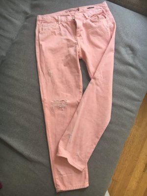 Zara Jeans rosa 38 destroyed Look