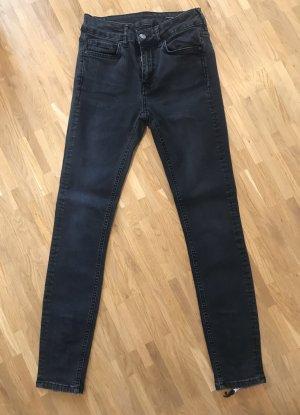ZARA Jeans - schwarz - mit Reißverschluss