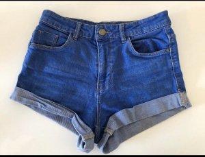 Zara High-Waist-Shorts blue
