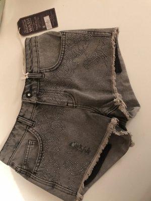 Zara Jeans Shorts grau NEU