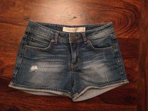 ZARA Jeans Shorts Hotpants blau used look Größe XS