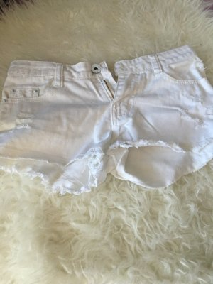 Zara Jeans Shorts in weiß
