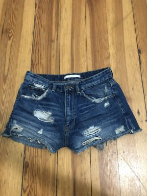 Zara Jeans Shorts mit Cut-outs