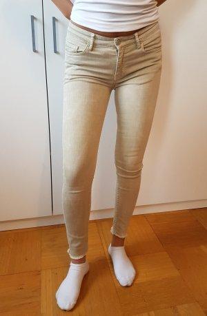 Zara Jeans slim fit Jeans Skinny Jeans Zaza Woman beige sand Creme nude
