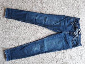 Zara Basic 7/8 Length Jeans blue cotton