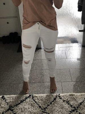Zara Jeans a sigaretta bianco
