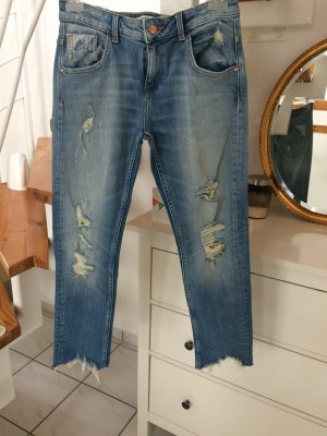 Zara Jeans boyfriend bleu-bleu azur