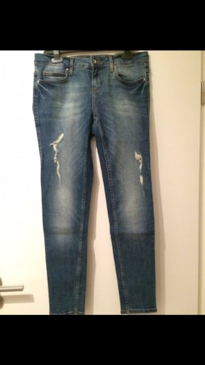Zara Jeans usedlook blau
