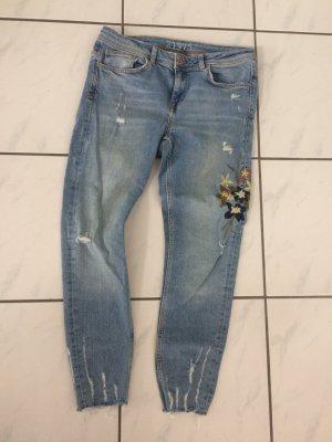 Zara Jeans usedlook floral Print
