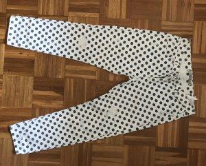 Zara Jeans weiß mit blauen Punkten destroyed große 36