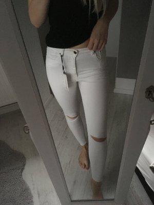 Zara Jeans weiß ripped