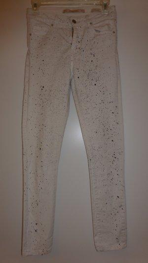 Zara Jeans weiss/schwarz