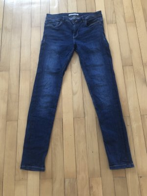 Zara Low Rise jeans blauw Katoen