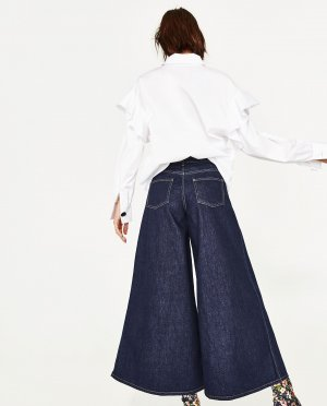 Zara Jeansculotte Limited Edition super wide leg Gr.38 neu