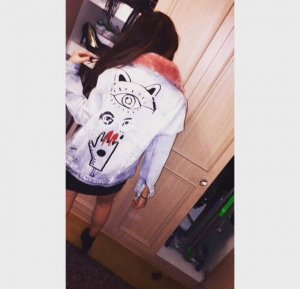 Zara Jeansjacke denim fell graffiti oversized Jacke