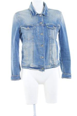Zara Jeansjacke himmelblau Casual-Look