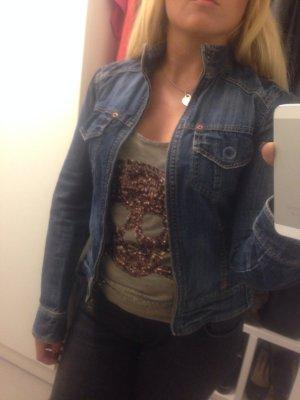 Zara Jeansjacke Jacke Jeans Gr M blau