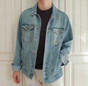 Zara Jeansjacke Jeans jacke True vintage XL oversize Blau Mantel