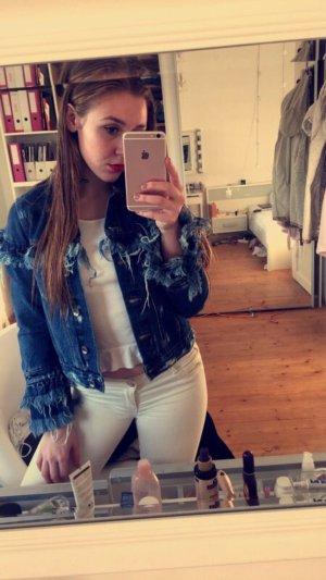 Zara jeansjacke mit Fransen