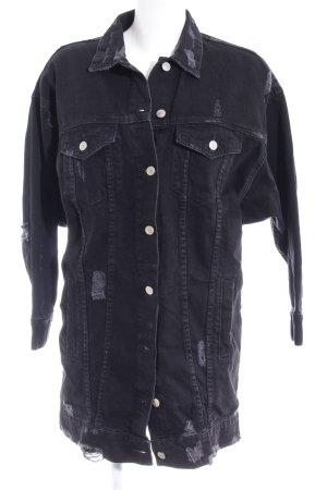Zara Veste en jean noir style décontracté