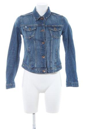 Zara Denim Jacket steel blue dandy style