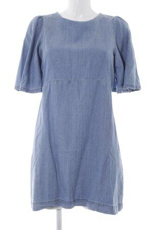 Zara Jeanskleid blau meliert Casual-Look