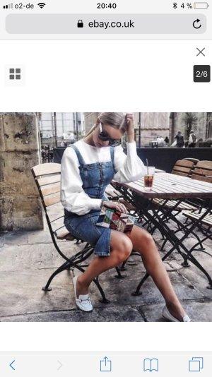 Zara Robe en jean multicolore