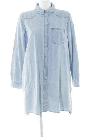 Zara Robe en jean bleu azur style décontracté